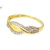Áttört bicolor köves arany gyűrű