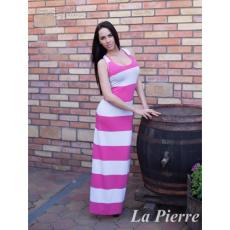 Lapierre LP 210 Fehér Pink csíkos Atléta maxi ruha
