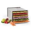 Klarstein Fruit Jerky Pro 6, szárítógép, dehidrátor, 630 W, 6 emelet, nemesacél