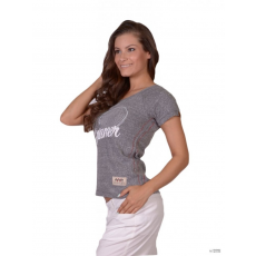 Wilson Női Rövid ujjú T Shirt W SS TEE SCOOP CHAHE/SILK