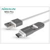 USB - micro USB + USB Type-C adat- és töltőkábel - Nillkin Plus Cable Type-C 2in1 - fehér