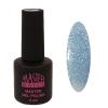 Master Nails MN 6ml Gel polish/018 Csillámos Vízkék  gél lakk 6 ml-es kiszerelésben