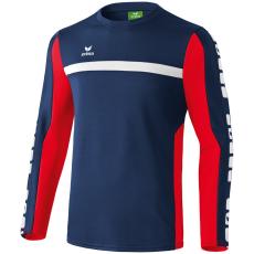 Erima 5-CUBES Training Sweater sötétkék/piros pulóver