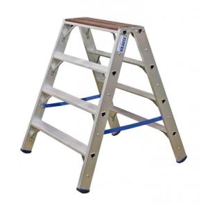 KRAUSE - Stabilo lépcsőfokos két oldalon járható létra fafelülettel 2x4 fokos (profi) - 123862