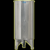 Inox 300 l-es bortartály, úszófedeles, paraffinos, 3 csappal (Zottel) (10480)