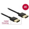 DELOCK Cable HDMI male/male összekötõ 3D 4K Slim Premium, 2m (84773)