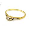 Bicolor brill köves arany gyűrű