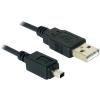 DELOCK Camera cable USB-B mini 4pin > USB-A 1,5m male-male (82113)