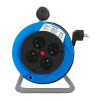 Qoltec Cable reel | 4 power socket | 15,0m