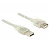 DELOCK Extension cable USB 2.0 Type-A male > USB 2.0 Type-A female 5m transpar