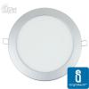 MINI LED Panel ezüst kör, 12W, meleg fehér (furat:155mm)