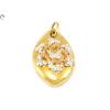 Virágos, pillangós tricolor arany medál