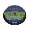 Verbatim CD-RW 700MB 8-12x CD lemez, 10 db