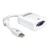 DELOCK Displayport mini -> VGA M/F konverter fehér
