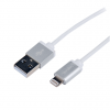 LogiLink Apple® Lightning - USB csatlakozó kábel, 1.00 m, ezüst