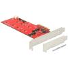 DELOCK PCI-E x4 - 2 portos M.2 NGFF IO vezérlő