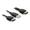 DELOCK Y eSATA USB A -> eSATAp M/M adatkábel 1m
