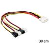 DELOCK Molex Power 4pin -> 4 Pinheader 2pin M/M tápkábel 0.3m