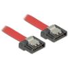 DELOCK Cable SATA FLEXI 6 Gb/s 70 cm red metal