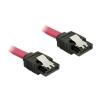 DELOCK SATA 3 F/F adatkábel 0.2m piros