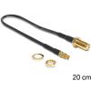 DELOCK SMA -> TS-9 M/M antenna kábel 0.2m fekete