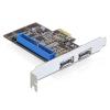 DELOCK PCI-E x1 3 portos multi IO vezérlő