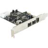 DELOCK PCI-E x1 - 3 portos FireWire A FireWire B IO vezérlő