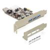 DELOCK PCI-E x1 - 3+1 portos USB3.0 IO vezérlő