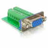 DELOCK VGA -> Terminal block 16pin F/F adapter