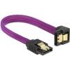 DELOCK SATA 3 F/F adatkábel 0.1m le/egyenes Premium lila