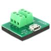 DELOCK USB micro B -> Terminal block 6pin F/F adapter