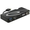 DELOCK USB 3.0 A -> HDMI VGA Gigabit LAN USB 3.0 A M/F adapter fekete