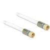 DELOCK F M/M antenna kábel 1m RG-6/U premium fehér