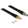 DELOCK SMA M/F antenna kábel 1m CFD400/LLC400 fekete
