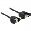 DELOCK Cable USB 2.0 Type-B female panel-mount > USB 2.0 Type-A female panel-mount 1 m