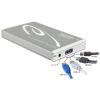 DELOCK 2.5' SATA USB3.0 eSATA külső ház Multiport