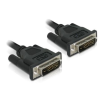 DELOCK DVI-D M/M video jelkábel 0.5m fekete