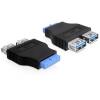 DELOCK USB 3.0 pinheader -> USB 3.0 A F/F adapter