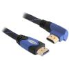 DELOCK HDMI Ethernet M/M video jelkábel 5m High Speed 90 fekete