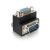 DELOCK VGA M/F adapter 90° fekete
