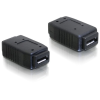 DELOCK USB micro A+B F/F adapter fekete