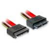 DELOCK Slim SATA 13 pin M/F adatkábel 0.5m piros