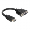 DELOCK HDMI-A -> DVI-D M/F adapter 0.2m