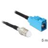 DELOCK FME Jack -> FAKRA Z Jack RG-174 M/F antenna kábel 5m fekete