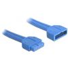 DELOCK USB 3.0 pinheader M/F adatkábel 0.45m fekete