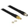 DELOCK RP-SMA M/F antenna kábel 1m CFD400/LLC400 fekete