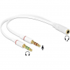 DELOCK Headset Adapter 1x 3.5 mm 4pin Stereo jack female > 2x 3.5 mm 3pin Stereo jack male (iPhone)