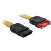 DELOCK SATA 3 M/F adatkábel 1m sárga