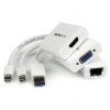 Startech Macbook Air Accessories kit MDP to VGA / HDMI and USB 3.0 Gigabit Ethernet Adapter