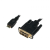 LogiLink Mini HDMI to DVI-D Cable, M/M, 1.0m